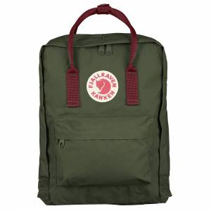Plecak Fjallraven - Kanken Forest Green / Ox Red 16L