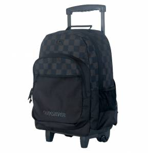 Plecak na kółkach QUIKSILVER Hall Pass Small Checks Black 25L