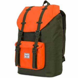 Plecak Herschel - Little America Mid-Volume Forest Night / Vermillion Orange 17L