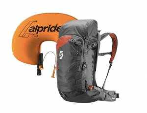 Plecak lawinowy Scott zestaw Backcountry Guide AP 40 Kit Dark Grey/Burnt Orange