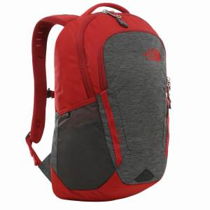 Plecak The North Face Vault - TNF Dark Grey Heather / Cardinal Red  27L
