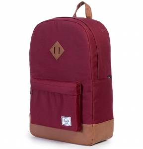 Plecak Herschel - Heritage Windsor Wine / Tan Leather 21L
