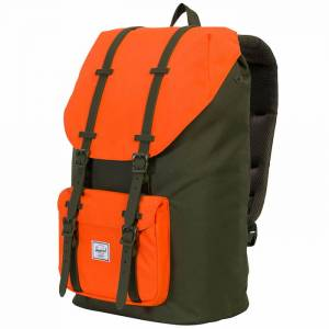 Plecak Herschel - Little America Forest Night / Vermillion Orange 25L
