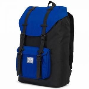 Plecak Herschel - Little America Mid-Volume Black / Surf The Web / Black Rubber 17L