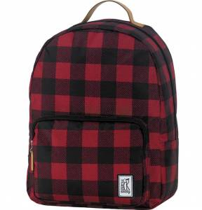 Plecak The Pack Society - Classic Black And Red Checks 18L