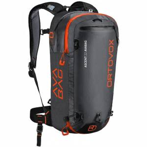 Plecak lawinowy Ortovox - Ascent Avabag Black 22L + Avabag Unit + butla Cartridge Carbon