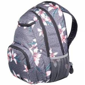 Plecak szkolny ROXY Shadow Swell - Charcoal Heather Flower Field 24L
