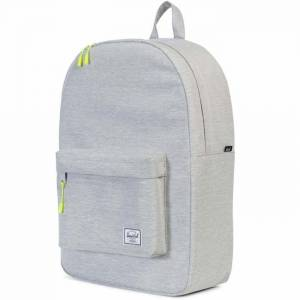 Plecak Herschel - Classic Light Grey Crosshatch / Acid Lime Zip 22L
