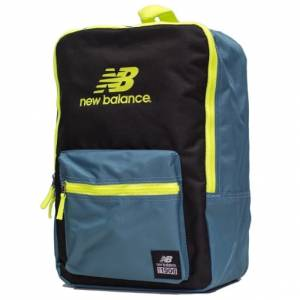 Plecak New Balance - Booker JR Backack Black / Blue / Sulphur 19L