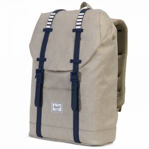 Plecak Herschel - Retreat Mid-Volume Light Khaki Crosshatch / Peacoat Rubber 14L