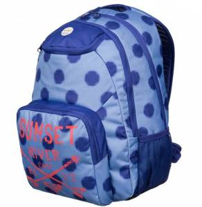 Plecak szkolny ROXY Shadow Swell Girl Ikat Polka Dot Light Denim 23L