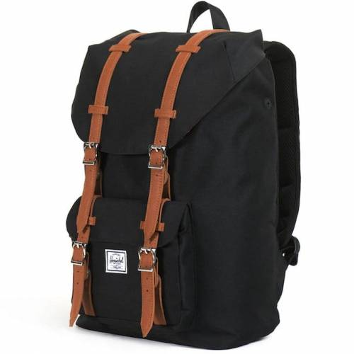 Plecak Herschel - Little America Mid-Volume Black / Tan Leather 17L