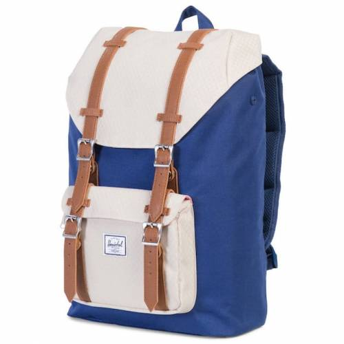 fac551a045a Plecak Herschel - Little America Mid-Volume Twilight Blue   Pelican   Tan  Leather